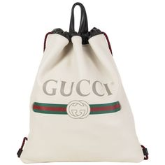 Gucci Drawstring Gucci Leather Backpack Mystic White Backpack Bags, Drawstring Backpack, Leather Backpack, Shoulder Bags For School, Long Wallet, Zipper Pouch, Purse Wallet, White Leather, Mystic