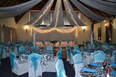 Olifants River Lodge - Wedding venue set up Lodge Wedding, Wedding Venues, River Lodge, Luxury Villa, Campsite, Table Decorations, Wedding Reception Venues, Wedding Places, Camping