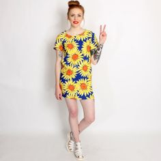 products hearts roses sunflower swing dress