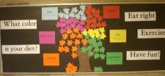 Health and Nutrition....Checkout this great post on Bulletin Board Ideas! Nurse Bulletin Board, Bulletin Board Paper, Bulletin Board Borders, Classroom Bulletin Boards, Classroom Decor, Preschool Bulletin, Preschool Art, Nutrition Month, Kids Nutrition
