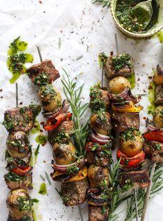 Easy Steak and Potato Skewers