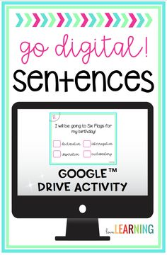 These digital sentence task cards are the perfect way to integrate technology in your elementary Google Classroom! This activity uses Google Slides and practices the four types of sentences, simple, compound, and complex sentences, and fragments and run-ons.