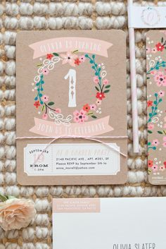 A spring inspired floral birthday party for your little one deserves the perfect birthday invitation from