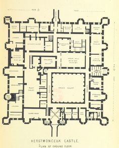 Plan of Burghley House, England Floor Plans Castles