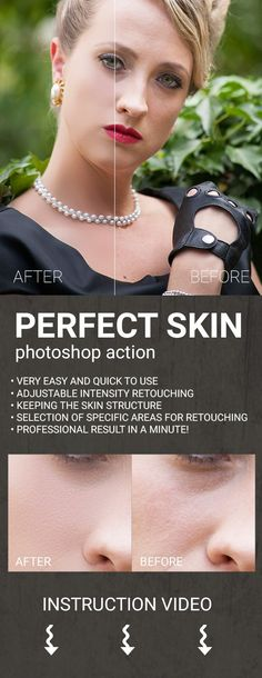 Perfect Skin Photoshop Action — Photoshop ATN #glamour #photo • Available here → https://graphicriver.net/item/perfect-skin-photoshop-action/8322311?ref=pxcr