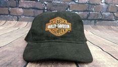 45ec01fbdfab5 vtg 80s Harley-Davidson Snapback Baseball Cap Hat Made in USA   HarleyDavidson  Cap