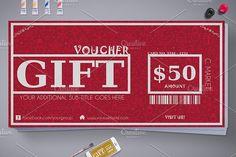 Elegant Christmas Gift Voucher by Tzochko on @creativemarket