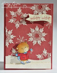 The Dining Room Drawers: Purple Onion Designs & Stacey Yacula's 'Henry' Christmas Card; Oct 2014