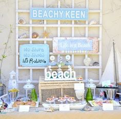 Fun Foods for Beach Theme Summer Parties     Are you ready to prepare some fun foods for beach theme summer parties? They're cute and so clever!