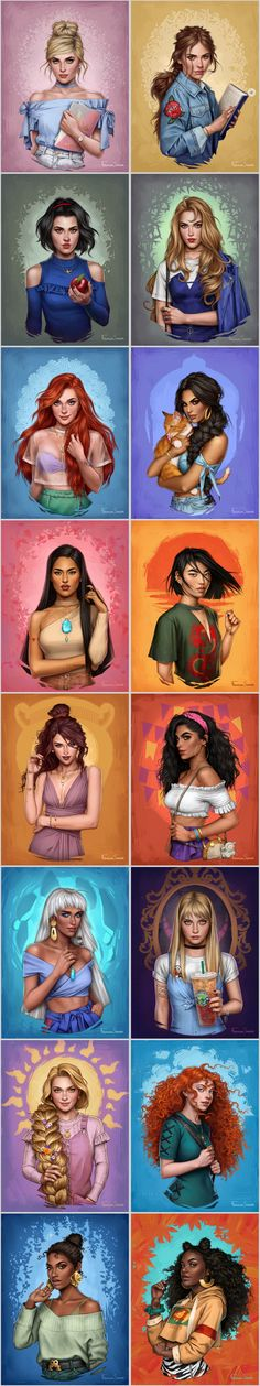 -Disney Princesses by fdasuarez on Deviantart Disney Princesses by fdasuarez on Deviantart – Paris Disneyland Pictures See it Disney Pixar, Disney Memes, Disney Cartoons, Disney And Dreamworks, Funny Disney, Disney Facts, Disney Princess Drawings, Disney Princess Art, Disney Fan Art