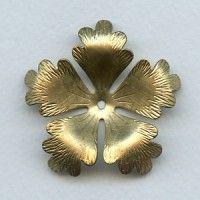 Huge Raw Brass Flower Stamping 48mm (1)