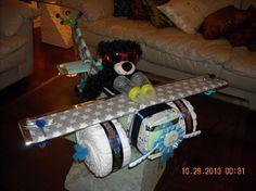 AIRPLANE DIAPER CAKE CREATION FOR BOY