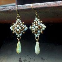 Light blue and nickel tone ( antique silver) earrings. #seedbeads  #beading #beadwork #matubo