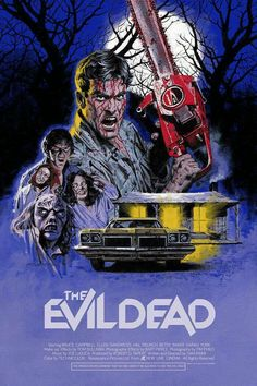 Evil Dead limited edition poster by Paul Mann that features the cabin. Read our review of Evil Dead (1981) and more cabin movies at: cottagemixtape.com Cabin Horror Movies, Horror Movie Posters, Horror Films, Horror Art, Betsy Baker, Evil Dead 1981, Movie Synopsis, New Line Cinema, Bruce Campbell