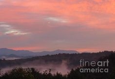 Sunrise over the Blue Ridge - early morning captured! by Anita Adams of @NCTreesPhotography
