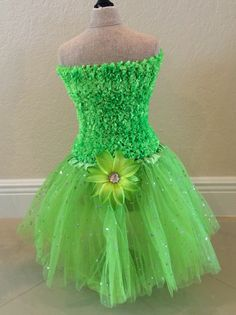 Tinkerbell Tutu Set Tinkerbell Party Dress by partiesandfun, $20.00