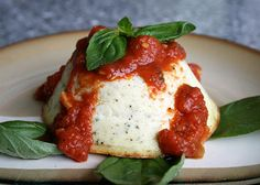 Italian Food Forever » Ricotta Sformata - This is a nice appetizer, or light first course to serve either with just a simple topping of butter and grated parmesan, or with a dollop of tasty tomato sauce.