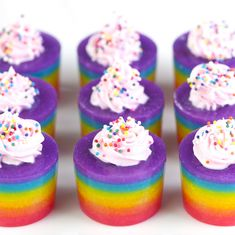 Mini gelatinas de colores
