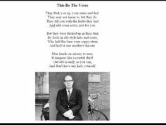 an analysis of this be the verse by philip larkin on the topic of poetry Philip larkin essay examples  a literary analysis of this be the verse by philip larkin  an analysis of this be the verse by philip larkin on the topic of poetry.
