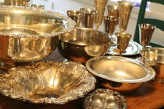 silver pieces shiny or tarnished  from Southern Vintage Rental