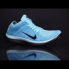 Nike Free 4.0 Flyknit Brand new Women's  Free 4.0 Flyknit size 7.5 color Glacier Ice Light Blue comes with box but box has no label and no lid. Reasonable offers are considered. Nike Shoes Athletic Shoes