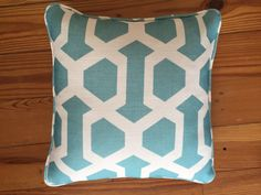 Teal geometric by LydiaBurkedesigns on Etsy