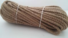Natural Jute Hessian Rope Can be used for gardening, decking, climbing, swings, hand rails, decorative rope work, supporting plans, and cat scratching posts