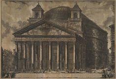 """Veduta del #Pantheon d'Agrippa [etc.]"" (s.d.), etching by Giovanni Battista #Piranesi (1720-1778) | via @metmuseum"