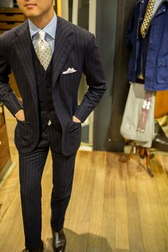 101% swag. classic pinstripe suit. style.