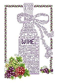 Lets Wine cross stitch pattern.