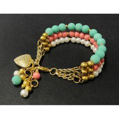 Pulsera de Moda con Bola de Caucho y Perla Boho Jewelry, Wire Jewelry, Jewelry Crafts, Jewelry Bracelets, Jewelry Box, Jewelry Design, Jewelery, Beaded Jewelry, Fashion Jewelry