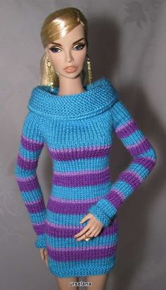 """Tunic for doll type Fashion Royalty and the like 16"""" Doll and shoes are not…"""