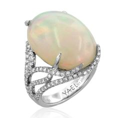 Blissful Opal and Diamond Ring by Yael Designs