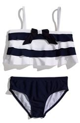 This is such an adorable #nautical baby bikini!