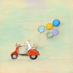 Orange Vespa by Oopsy daisy Illustration Vespa, Vespa Roller, Baby Wall Art, Baby Boutique, Fine Art Paper, Art For Kids, Canvas Wall Art, Wrapped Canvas, Art Prints