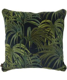 House of Hackney Large Midnight Palmeral Velvet Cushion | Home | Liberty.co.uk