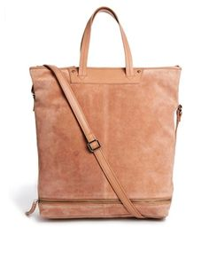 Image 1 of ASOS Leather Shoulder Bag With Zip Base
