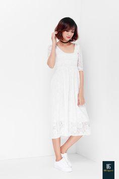 AW16  Midi lace dress