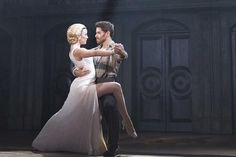... as Eva Peron and JOSH YOUNG as Che in the Broadway tour of EVITA