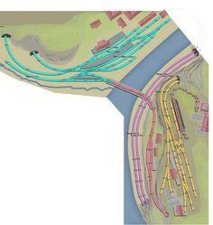 H0 Gleisplan: Erzverladung und schöne Parade im Flusstal