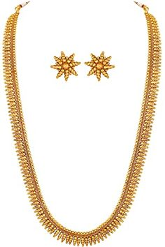 Buy Shri Nathji Imitation Goldplated 2 Line Chain For Women at Amazon.in Trendy Jewelry, Women Jewelry, Necklace Set, Gold Necklace, Fashion Accessories, Fashion Jewelry, Wedding Jewelry Sets, Precious Metals, Jewelry Design