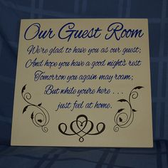 Our Guest Room Wood Plaque