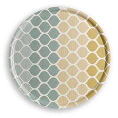 Tablett aus Holz – Blau – 45cm Durchmesser.