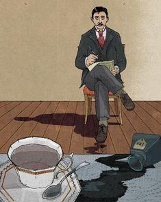 Marcel Proust illustration.
