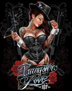 Gangsta Girl Drawings   Gangster Art Pictures http://brown73.deviantart.com/art/GANGSTER-LOVE ...