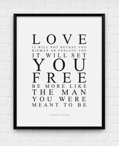Love Will Not Betray You - Mumford and Sons - Printable Poster - Digital Art, Download and Print JPG