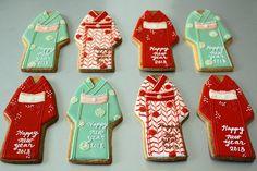 New Year  KIMONO cookies