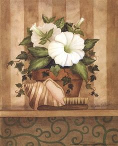 l by Annie Lapoint art print | servilletas | Pinterest | Petunias, Shells and Art Prints