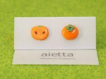 Miniature persimmon earrings