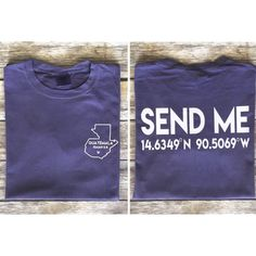 This shirt was created to raise funds for a mission trip to Guatemala this summer. We will be traveling with Casas Por Christo and building a house for a family in the need. The money raised from the sales of this t-shirt will go to purchase a water filtration system, beds and food for the family. Our SEND ME design is printed on a grape Comfort Color t-shirt. This is a pre-order sale, so the shirts will ship at the end of March.  Please convo us with any questions